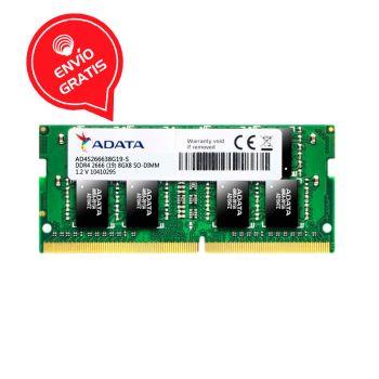 Adata Premier 8GB (1 x 8GB) DDR4 2666MHz SO-DIMM AD4S266638G19-S Memoria para Portatil Gratis