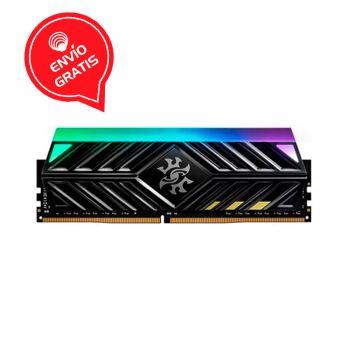 ADATA XPG 16GB DDR4 3600Mhz RGB SPECTRIX D41 Negra AX4U3600716G18A-ST41 Memoria RAM frontal