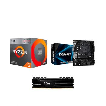 COMBO BOARD ASRock B550M HDV / PROCESADOR AMD RYZEN 3400G / 8GB DDR4 3000MHZ DISIPADA* combo