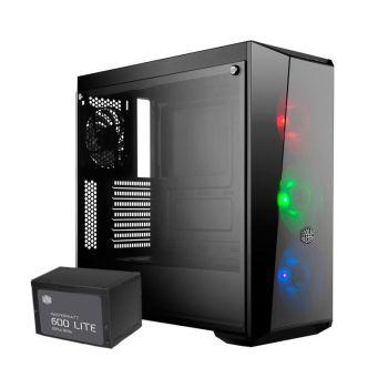 Cooler Master Box Lite 5 600W 80 PLUS RGB Ventana Torre 11119325 Diagonal