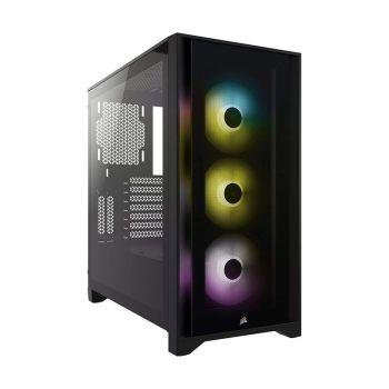 CORSAIR iCUE 4000X 3*120mm RGB VIDRIO LATERAL CC-9011204-WW ATX Torre diagonal