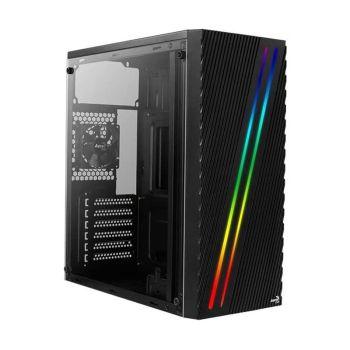 AEROCOOL STREAK RGB 1* 80mm Acrilico Lateral Negra ATX Torre diagonal