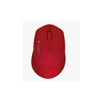 Logitech M280 2.4GHZ 1000 DPI Optico Inalambrico 910-004286 Rojo Mouse FRONTAL