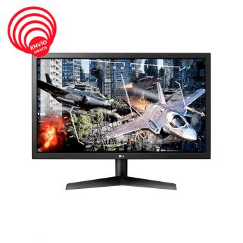 LG 23.6 24GL600F-B UltraGear FHD TN HDMI DP 144Hz 1ms Monitor Gamer  frontal