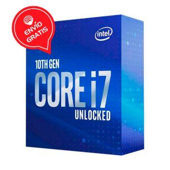 Intel Core i7 10700K 3.8GHz (5.1GHz Turbo) 8 Core Intel UHD Grafico 630 BX8070110700K Comet Lake Procesador diagonal