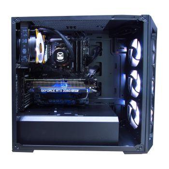HALLEY VEGA DSR73800XMX570 AMD Ryzen 7 3800X 3.9GHz 32GB DDR4 M.2. NVMe 500GB Sata 3TB RTX 2070 SUPER 8GB Lateral derecho sin tapa