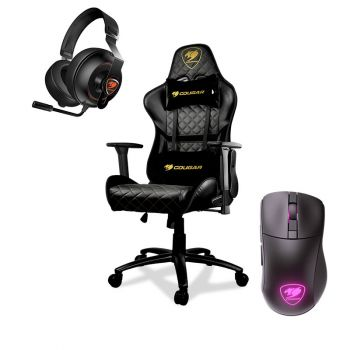SILLA GAMER ARMOR ONE ROYAL + PHONTUM ESSENTIAL BLACK + MOUSE SURPASSION RX WIRELESS COMBO SILLA