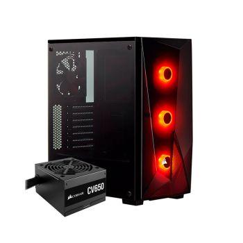 Corsair Spec Delta 650W 80 PLUS Bronce 3*120mm RGB Vidrio Lateral CC-9020180-NA ATX Torre con fuente