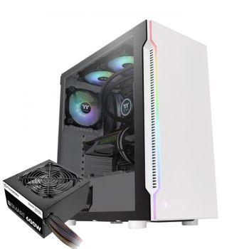 Thermaltake H200 BLANCA 600W 80 PLUS WHITE RGB 1*120mm Vidrio Lateral CA-1M3-00M6WN-00 Atx TORRE con fuente