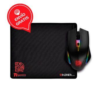 Thermaltake Talon Elite RGB Gaming Gear MO-TER-WDOTBK-01 Mouse Gamer Combo frontal