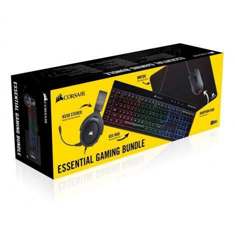 Corsair HS50 + Harpoon mouse RGB + K55 RGB + MM100 Pad Mouse Combo