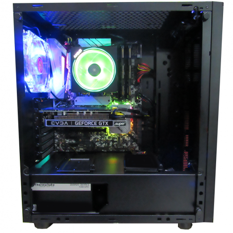 HALLEY Vega DSRZ73800XJB450 Ryzen 7 3800X 3.9GHz 16GB DDR4 1TB + SSD 512GB M.2 RTX 2070 8GB SUPER lateral
