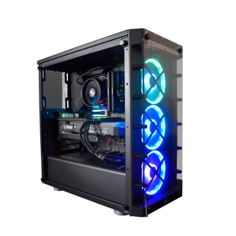 HALLEY SIRIO DSCI9900KJZ390 Intel Core I9 9900K 3.6GHz 32GB DDR4 M.2. NVMe 500GB Sata 960GB RTX 2060 SUPER 8GB Lateral derecho sin tapa