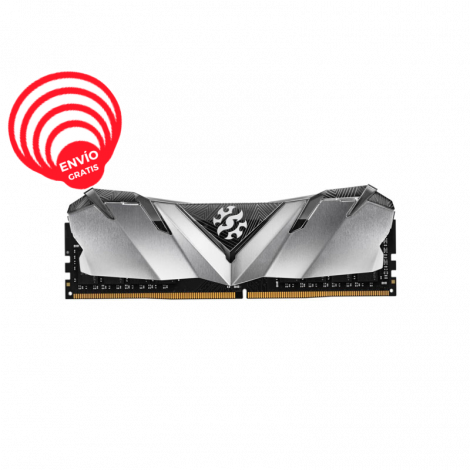 ADATA XPG 8GB DDR4 3000Mhz GAMMIX D30 AX4U300038G16A-SG30 gris Memoria RAM frontal