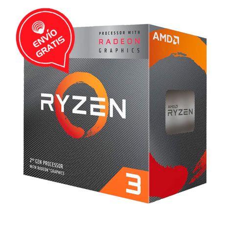 AMD Ryzen 3 3200G 3.6GHz (4.0 GHz Turbo) 4 Core Radeon Vega 8 YD3200C5FHBOX Procesador empaque