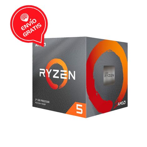 AMD Ryzen 5 3600X 3.8 GHz (4.4 GHz Turbo) 6 Core 100-100000022BOX Procesador diagonal