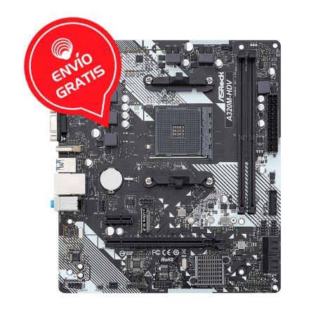ASROCK A320M-HDV AM4 AMD MATX Board Gratis
