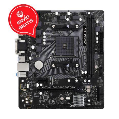 ASRock A520M HDV AM4 AMD 64GB MATX Board frontal