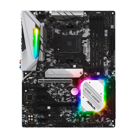 ASROCK B450 STEEL LEGEND AM4 AMD Atx Board frontal