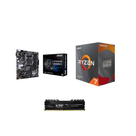 COMBO BOARD ASUS B550M / PROCESADOR AMD RYZEN 3800XT / 8GB DDR4 3000MHZ DISIPADA*