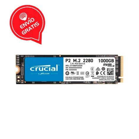 Crucial 1TB P2 Nvme PCIe M.2 CT1000P2SSD8 Disco Solido Gratis