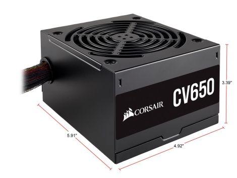 Corsair VS 650W 80 Plus White CP-9020172-NA Fuente de Poder diagonal