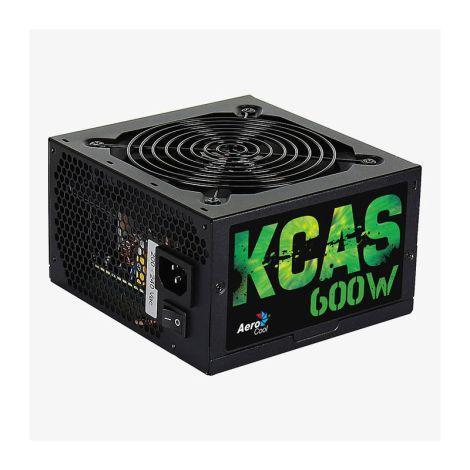 Aerocool 600W 80 Plus Bronce KCAS Plus Fuente de Poder diagonal