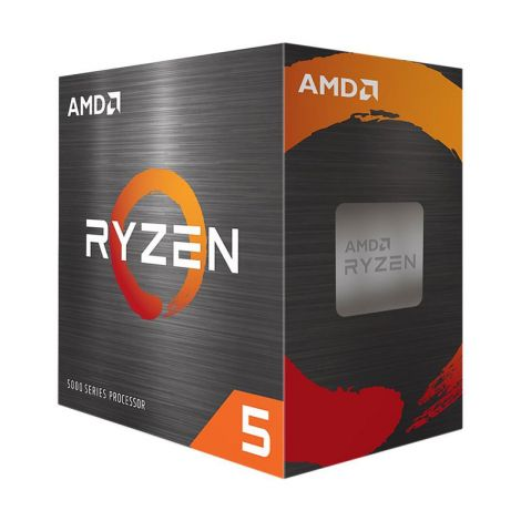 AMD Ryzen 5 5600X 3.7 GHz (4.6 GHz Turbo) 6 Core 100-100000065BOX Procesador diagonal