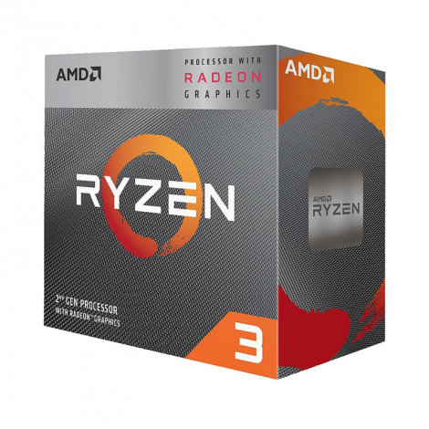 AMD Ryzen 3 3200G 4 Core 3.6 GHz (4.0 GHz Turbo)  YD3200C5FHBOX diagonal
