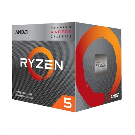 AMD Ryzen 5 3400G 4 Core 3.7 GHz (4.2 GHz Turbo) YD3400C5FHBOX Procesador
