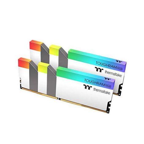 Thermaltake 16GB (2*8GB) DDR4 3200Mhz RGB TOUGHRAM Blanco R022D408GX2-3200C16A Memoria RAM diagonal