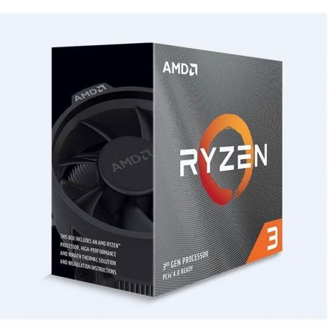 AMD Ryzen 3 3100 4 Core 3.6 GHz (3.9 GHz Turbo) 100-100000284BOX Procesador DIAGONAL