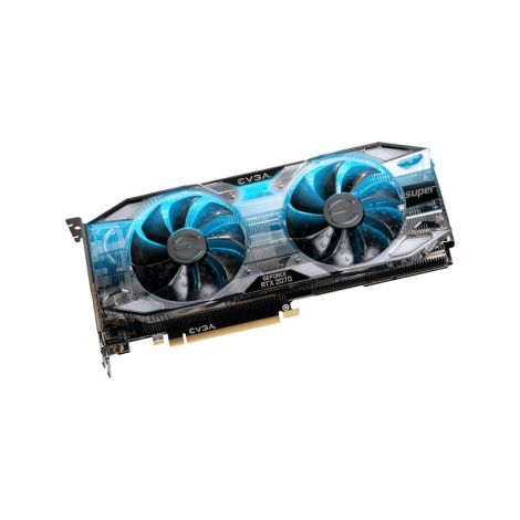 EVGA GeForce RTX 2070 SUPER XC Ultra Gaming 8GB Dual Fan RGB 08G-P4-3173-KR Tarjeta de Video diagonal