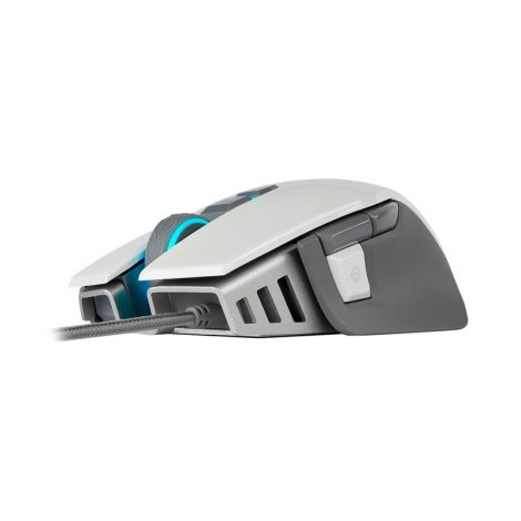 CORSAIR M65 RGB ELITE AJUSTABLE FPS Blanco CH-9309011-NA Mouse Gaming diagonal