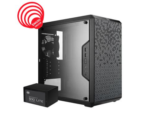 Cooler Master MasterBox Q300L 500W Elite V3 1*120MM Acrilico Lateral Matx MCB-Q300L-KANA50-00S Torre Diagonal