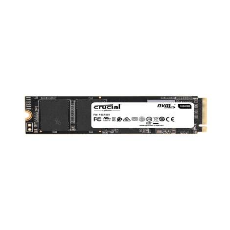 Crucial 1TB P1 Nvme PCIe M.2 CT1000P1SSD8 Disco Solido frontal