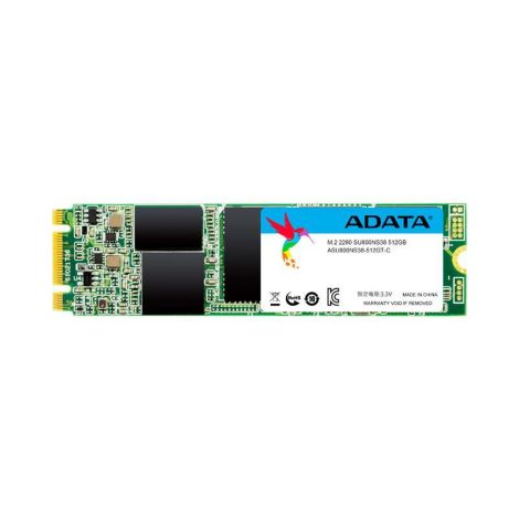 Adata Ultimate SU800 512GB SATA III M.2 2280 3D TLC ASU800NS38-512GT-C Disco Solido FRONTAL