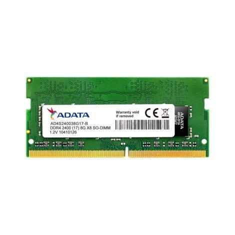 Adata Premier 8GB (1 x 8GB) DDR4 2400MHz SO-DIMM AD4S240038G17-S Memoria para Portatil frontal