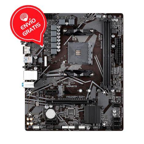 GIGABYTE A520M S2H AMD AMD4 RGB 64GB MATX Board frontal