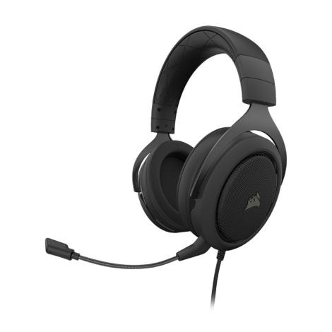 CORSAIR HS50 Stereo Carbon CA-9011170-NA Audifonos Gamer diagonal