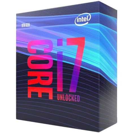 Intel Core i7 9700 8 Core 3.0 GHz (4.7 GHz Turbo) BX80684I79700 Procesador diagonal