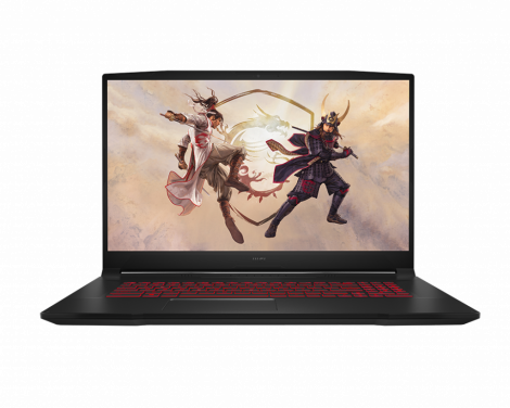 """MSI (KATANA GF76 11UE) 17.3"""" I7 11800H 16GB RTX 3060 Max-Q 6GB 512GB SSD Portatil Frontal"""