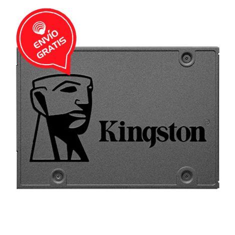"KINGSTON 240GB Q500 SATA III 2.5"" SQ500S37/240G Disco Solido Frontal"