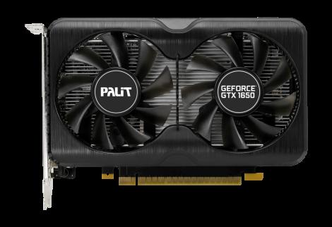 PALIT GTX 1650 StormX OC D6 4GB Dual Fan Tarjeta de Video Frontal