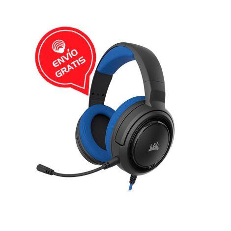 Corsair HS35 STEREO Azul CA-9011196-EU Audifonos Gamer diagonal