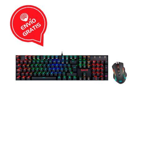 REDRAGON K551RGB-BA Combo Teclado Mouse Gaming  Gratis