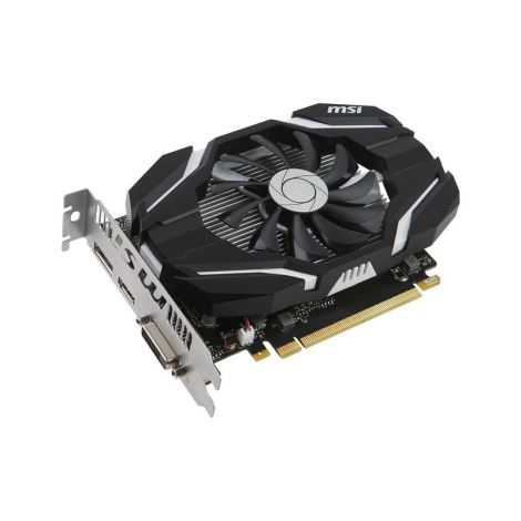 MSI GeForce GTX 1050 TI OC 4GB DUAL FAN Tarjeta de Video superio izq