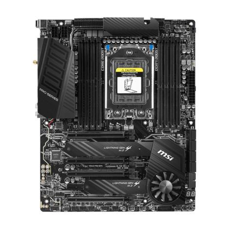 MSI TRX40 PRO WIFI sTRX4 AMD Atx Board FRONTAL