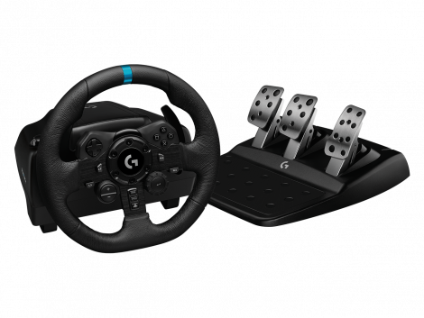 VOLANTE LOGITECH G923 TRUEFORCE RACING PARA XBOX, PLAYSTATION Y PC 941-000156 Timon y Pedales Frontal
