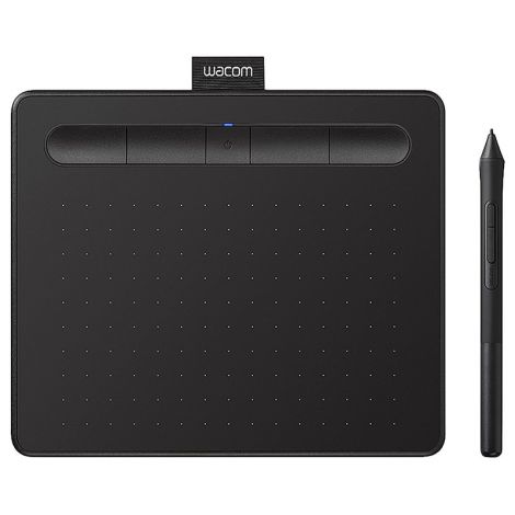 Wacom Intuos CTL4100WLK0 Bluetooth Pequeña Negra Tabla Digitalizadora frontal